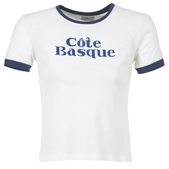 T-shirts & Polos Loreak Mendian COTE BASQUE Ecru / Marine 350x350
