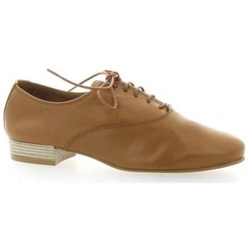 Chaussures Femme Richelieu Pao Derby cuir Cognac