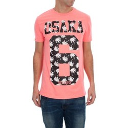 Vêtements Homme T-shirts manches courtes Superdry OSAKA PALM TEE Rose