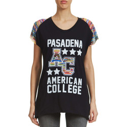 T-shirts manches courtes American College Top  Primy W Noir Femme