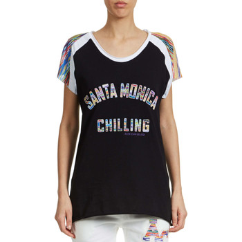 T-shirts manches courtes American College Tee Shirt Mc Santa Monica Chilling Benni  Noir