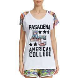 T-shirts manches courtes American College Tee Shirt Mc Passadena Ac Primy W  Blanc