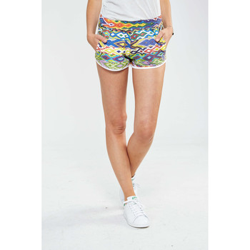 Shorts / Bermudas American College Short Graphique Sweedy W  Multicouleurs