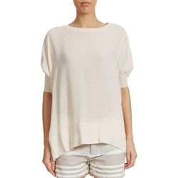 T-shirts manches courtes Yaya Top Oversized  Rose Pale Femme