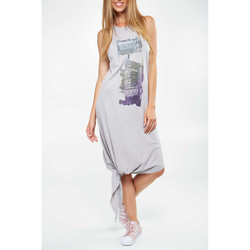 Robes longues Obey Robe  Billboard Zine Gris Femme