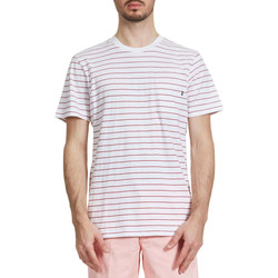 Vêtements Homme T-shirts manches courtes Obey Tee Shirt  Groupe Raye Blanc Homme Blanc