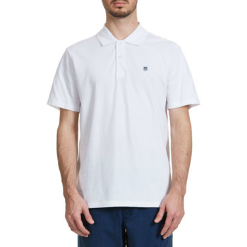 Vêtements Homme Polos manches courtes Obey Polo  Eighty Nine Blanc Homme Blanc