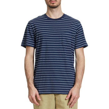 Vêtements Homme T-shirts manches courtes Obey Tee Shirt  Groupe Raye Marine Homme Marine