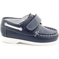 Chaussures Garçon Chaussures bateau Boni Classic Shoes Boni Mini Boat, mocassins bébé à scratch Bleu Marine