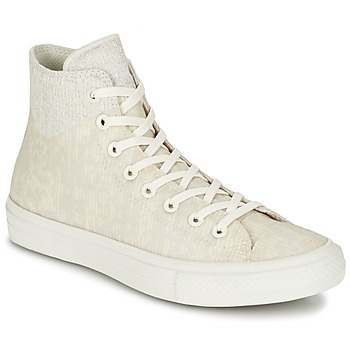 Chaussures Baskets montantes Converse CHUCK TAYLOR ALL STAR II  CAOUTCHOUC HI Beige