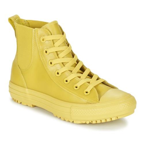 Chaussures Femme Baskets montantes Converse CHUCK TAYLOR ALL STAR CHELSEA CAOUTCHOUC HI Jaune Citron