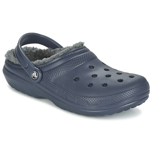 Chaussures Sabots Crocs CLASSIC LINED CLOG Marine / Gris
