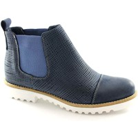 Chaussures Homme Boots Made In Italy M123 bottes bleu femme beatles pointe Blu