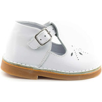 Chaussures Fille Chaussons bébés Boni & Sidonie Salomé en cuir à boucles étoile -  MINI HENRY Blanche