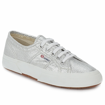 Chaussures Femme Baskets basses Superga 2750 METAL Silver