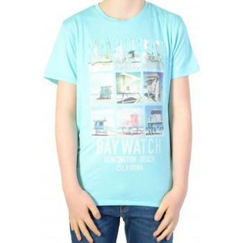 Vêtements Garçon T-shirts manches courtes Kaporal T-shirt Kaporal Enfant Demo Sky Blue Bleu