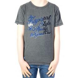 Vêtements Garçon T-shirts manches courtes Kaporal T-shirt Kaporal Enfant Dumb Black Gris