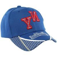 Accessoires textile Homme Casquettes Hip Hop Honour Casquette Baseball NY Bleu et Rouge Stan Bleu