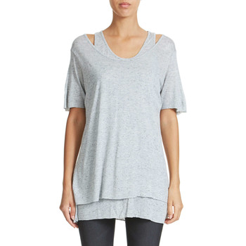 Vêtements Femme T-shirts manches courtes Cheap Monday Tee Shirt  Two Limit Gris Femme Gris