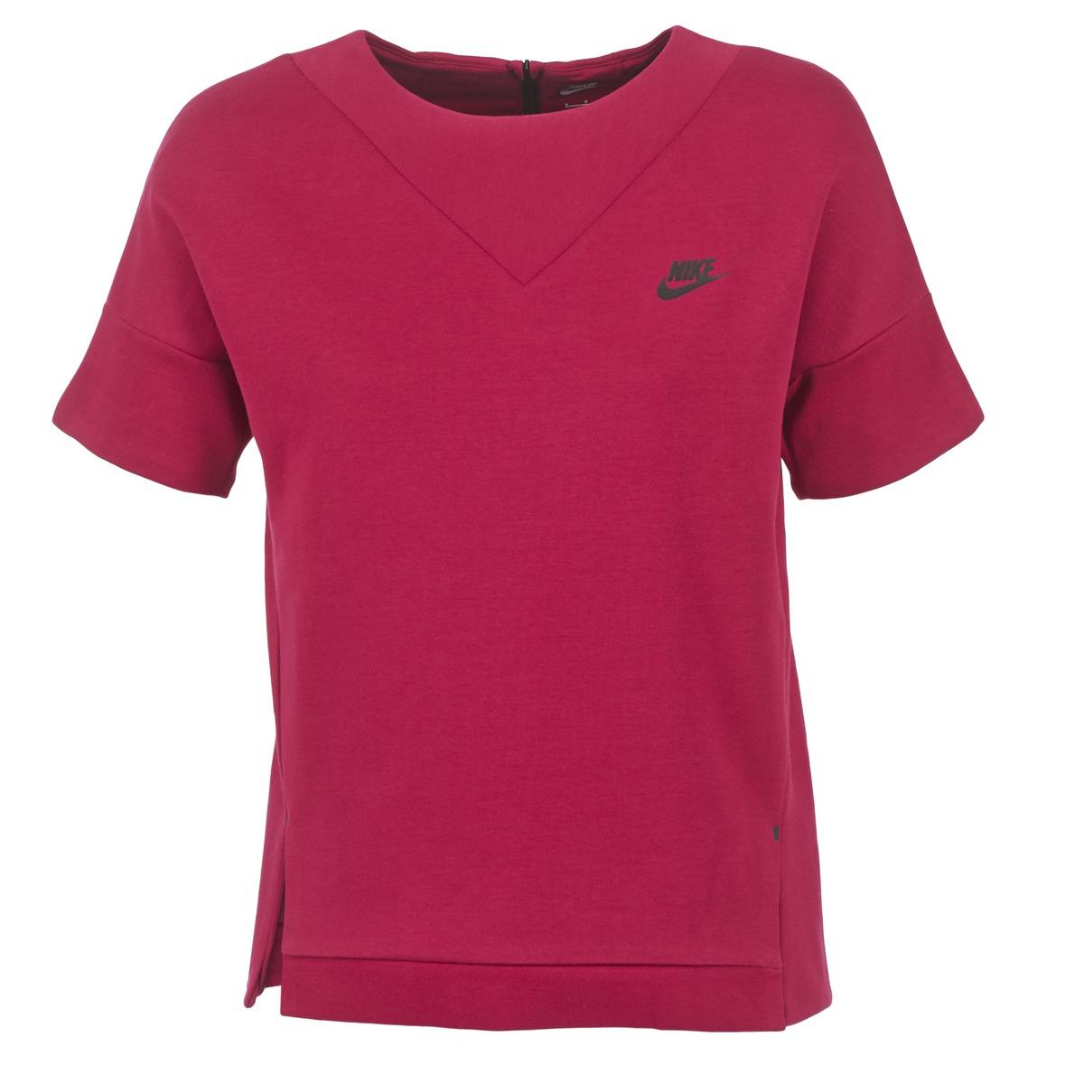 Nike TECH FLEECE CREW Bordeaux
