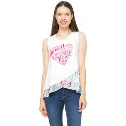 Vêtements Femme Débardeurs / T-shirts sans manche Desigual Tee-shirt  Gemma Blanc 61T24W0 1