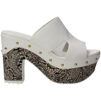 Chaussures Femme Mules Luciano Barachini 6025AB Mules Femme Blanc Blanc