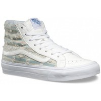Chaussures Femme Baskets montantes Vans Chaussures  U Sk8-Hi Slim - Frayed Native / True White blanc