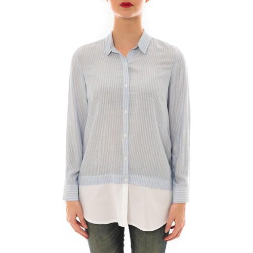 ema blues chemise samy ray e bleu blanc bleu v tements chemises manches longues femme 19 20. Black Bedroom Furniture Sets. Home Design Ideas