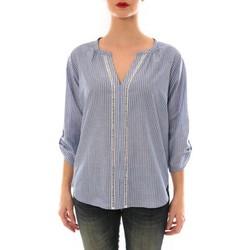 Vêtements Femme Tops / Blouses Ema Blues Top LIP rayée bleu Bleu