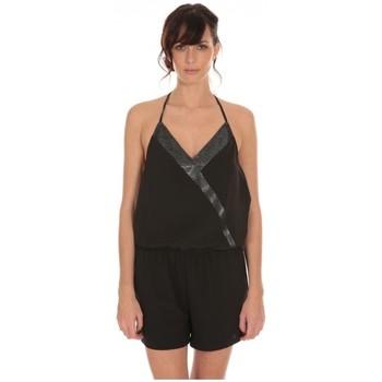 Vêtements Femme Combinaisons / Salopettes LPB Woman Les Petites Bombes Combi Short Crepe  S160901 Noir