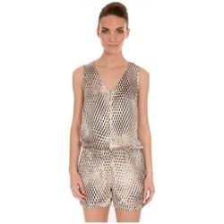 Vêtements Femme Combinaisons / Salopettes LPB Woman Les Petites bombes Combishort Imprimé S166101 Beige