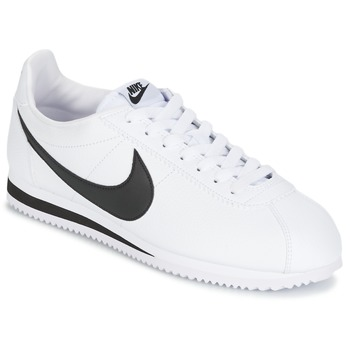 Baskets mode Nike CLASSIC CORTEZ LEATHER Blanc / Noir 350x350