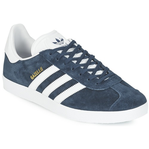 outlet store c9080 de1a5 Chaussures Baskets basses adidas Originals GAZELLE Marine