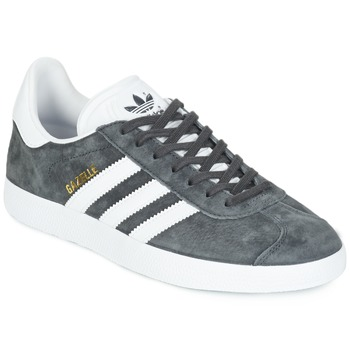 buy popular 24d4e a26e4 Chaussures Baskets basses adidas Originals GAZELLE Gris foncé