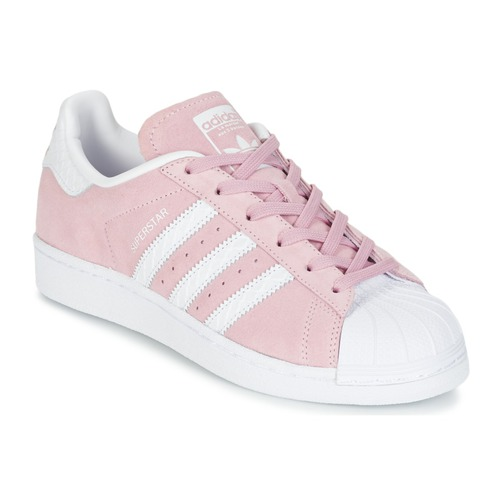 Baskets mode adidas Originals SUPERSTAR W Rose / Blanc 350x350