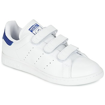 Chaussures Baskets basses adidas Originals STAN SMITH CF Blanc   bleu bfa8e339b95c