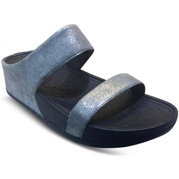 Chaussures Femme Mules FitFlop LULU SHIMMERSUEDE SLIDE Gris