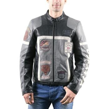 Vêtements Homme Vestes en cuir / synthétiques Redskins Highway Noir Noir et Gris