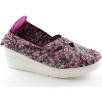 Chaussures Femme Slips on Grunland Grünland PITT SC2402 multicolores pourpres chaussures élastiques Multicolore