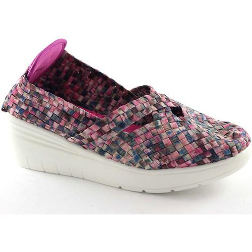 Chaussures Femme Slip ons Grunland Grünland PITT SC2402 multicolores pourpres chaussures élastiques Multicolore