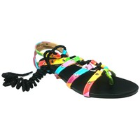 Chaussures Femme Sandales et Nu-pieds Cassis Côte D'azur Spartiates Brides Multicolor Barbie Noir Noir