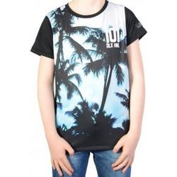 Vêtements Garçon T-shirts manches courtes Deeluxe T-shirt Deeluxe S16- 178Kid Luck Blue Bleu
