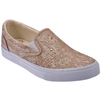 Chaussures Femme Slip ons Liu Jo Pizzo Taupe Slip On Sneakers