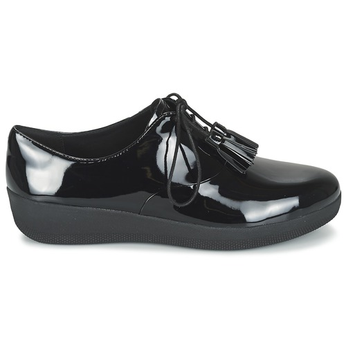 Baskets Fitflop Tassel Superoxford Noir Chaussures Femme Basses Classic E2IDHY9W