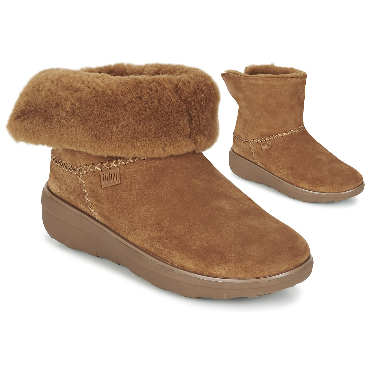 FitFlop SUPERCUSH MUKLOAFF SHORTY Noisette