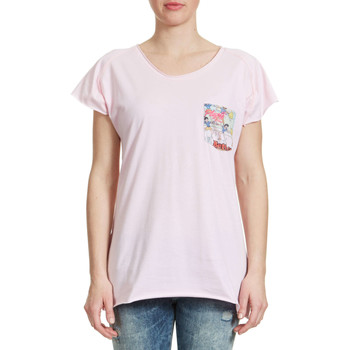 T-shirts manches courtes American College Tee Shirt  Archy W Vieux Rose Femme