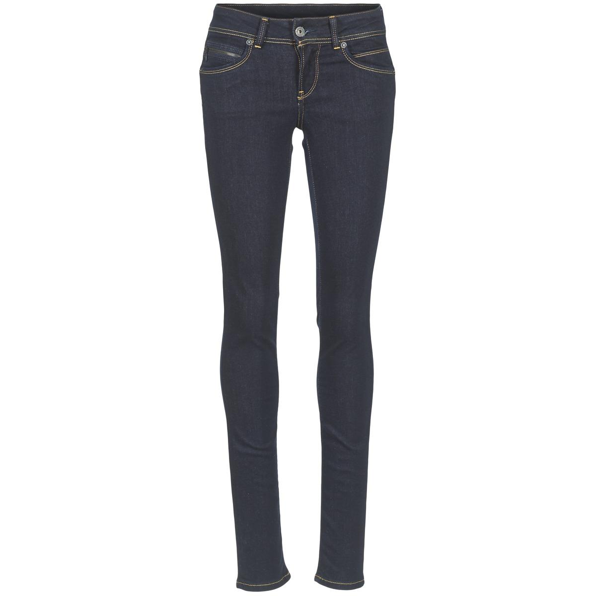 Pepe jeans NEW BROOKE M15 Bleu Brut - Livraison Gratuite avec Spartoo.com !  - Vêtements Jeans slim Femme 63,19 €