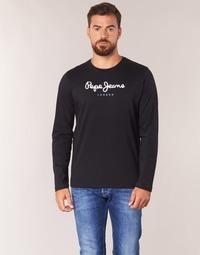 Vêtements Homme T-shirts manches longues Pepe jeans EGGO LONG Noir