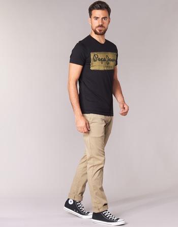 Courtes Charing T Pepe Jeans Noir shirts Vêtements Homme Manches DH29EI
