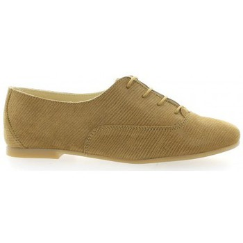 Chaussures Femme Derbies Pao Derby cuir laminé Camel